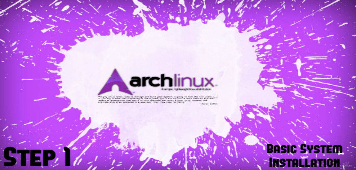 Arch Linux Install Guide - Step 1: Basic Installation