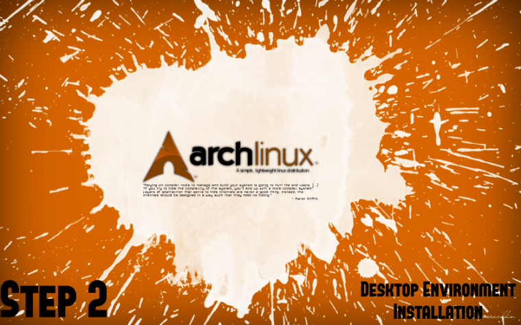Arch Linux Install Guide - Step 2: Desktop Environment
